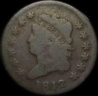 CIRCULATED 1812 CLASSIC HEAD LARGE CENT  8A