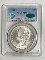 MORGAN SILVER DOLLAR 1898 P PCGS MINT STATE 66  CAC