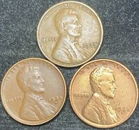 1935 P-D-S LINCOLN WHEAT PENNIES- SHIPS FREE 3