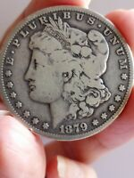 1879 MORGAN SILVER DOLLAR, BEAUTIFUL COIN 7 FEATHERS, 3RD REVERSE  LE514