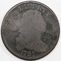 1797 1C S 121B DRAPED BUST LARGE CENT  GRIPPED EDGE