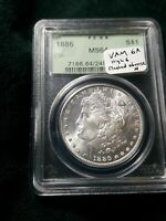 1886 MORGAN DOLLAR PCGS MINT STATE 64 OGH VAM 6A CLASHED N , HIGH 6 , LOTS OF CLASHES