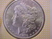 CH BU 1878 S SAN FRANCISCO MORGAN SILVER DOLLAR FULL HAIR CAP FEATHERS LUSTEROUS
