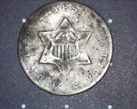 1852 UNITED STATES 3-CENT SILVER PIECE
