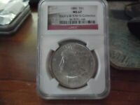 A 1886 SILVER MORGAN -NGC -MINT STATE 67 STACKS W 57TH ST COLLECTION