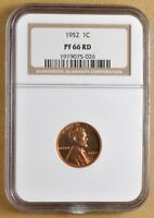 1952 PROOF LINCOLN WHEAT CENT NGC PF66RD