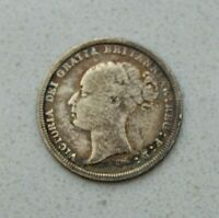 OLD 1885 GREAT BRITAIN BRITISH SILVER 6 PENCE COIN VICTORIA NICE