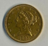 1895 LIBERTY HEAD $5 DOLLAR GOLD HALF EAGLE GOLD COIN YOU GR