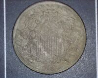 1868 SHIELD NICKEL ACID DATE