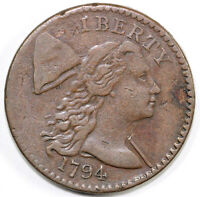 1794 1C S-57 LIBERTY CAP LARGE CENT