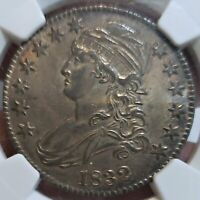 WOW MS 62 1832 CAPPED BUST HALF DOLLAR NGC  NICE LOOKING COI