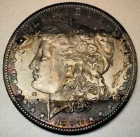 1889 S MORGAN SILVER DOLLAR COLOR / TAB TONING
