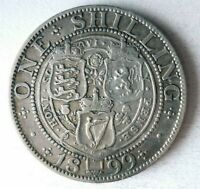 1899 GREAT BRITAIN SHILLING   HIGH QUALITY   EXCELLENT SILVE