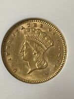 GOLD COINS US: 1874 $1 GOLD COIN   CERTIFIED ANACS AU58   RA