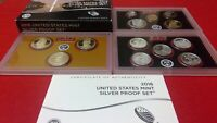 2016 U.S. MINT SILVER PROOF SET WITH COA AND BOX