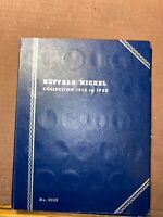 BUFFALO NICKEL BOOK COLLECTION 1913 TO 1938   3/4 FILLED  NO