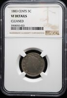 1883 LIBERTY HEAD NICKEL WITH CENTS NGC VF DETAILS CLEANED