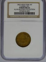 1863 F-630BG-2B1 NGC MINT STATE 62 R-7 BLEVISS COLLECTION