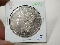 1881 O MORGAN SILVER DOLLAR  3643