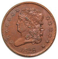 1828 1/2C C 1 CLASSIC HEAD HALF CENT  CLEANED BUT SHARP