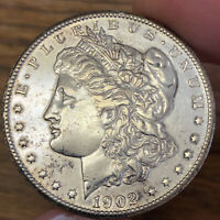 1902-S $1 MORGAN DOLLAR EXTRA FINE -AU DETAILS CLEANED GREAT VALUE FOR THIS  TYPE