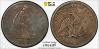 TOUGH TO FIND 1871 SEATED LIBERTY SILVER DOLLAR  PCGS  AU DE