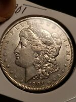 1901 MORGAN  DOLLAR  CHOICE  AU  -  DATE EXC FIELDS DEVICES