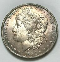1884 O RAINBOW TONED UNC MORGAN DOLLAR  FROM MY OLD COLLECTION