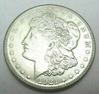1921 S MORGAN SILVER DOLLAR AU - ABOUT UNCIRCULATED  SHIPS FREE