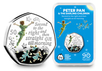THE 2019 PETER PAN SILVER PROOF 50P CAPSULE EDITION WITH PRE