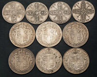 1912 1927 GREAT BRITAIN GEORGE V. SILVER FLORIN &  CROWN COI