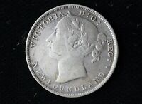 1900 CANADA NEWFOUNDLAND SILVER 20 CENTS IN GREAT CONDITION
