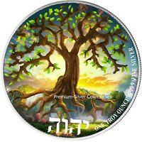 2021 NIUE TREE OF LIFE   1 OUNCE PURE SILVER .999 COIN