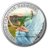 2021 ST HELENA QUEENS VIRTUES 1 OUNCE PURE SILVER .999 COLOR