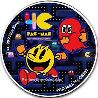 2020 PAC MAN 40TH ANNIVERSARY  1 OUNCE PURE SILVER .999 COIN