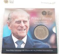 2017 ROYAL MINT PRINCE PHILIP LIFE OF SERVICE BU 5 FIVE POUN
