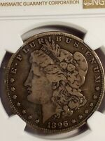 1896 S MORGAN SILVER DOLLAR,   BEAUTIFUL COIN NGC CERTIFIED VG 10 DETAILS LE493