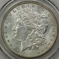 1902-O MORGAN SILVER DOLLAR, PCGS MINT STATE 64 CAC, OLD GREEN HOLDER, CHOICE