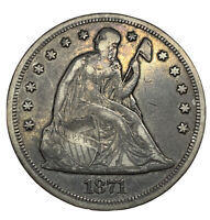 1871 SEATED LIBERTY SILVER DOLLAR IN  CONDITION VF
