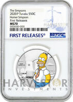 2020 THE SIMPSONS   HOMER SIMPSON 1/2 OZ. SILVER COIN   NGC