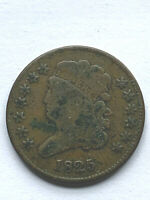 1825 CLASSIC HEAD HALF CENT - LOW MINTAGE