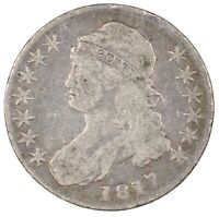 1817 CAPPED BUST SILVER HALF DOLLAR 50C - CIRCULATED -
