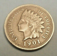 1901 P INDIAN HEAD CENT / PENNY  SDS  SHIPS FREE