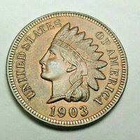 1903 P INDIAN HEAD CENT / PENNY  GOOD OR BETTER  SHIPS FREE