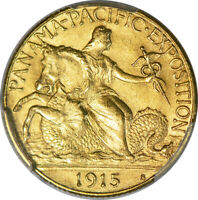 1915-S $2.50 PANAMA-PACIFIC PCGS MINT STATE 64