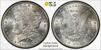 1897 S  MORGAN SILVER $1 DOLLAR  PCGS  MINT STATE 64  NEW  75TH ANNIVERSARY LABEL