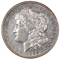 1886-S MORGAN SILVER DOLLAR BETTER DATE $1 - ABOUT UNCIRCULATED PL -