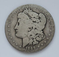 KEY DATE 1889-CC - U.S. MORGAN SILVER DOLLAR  ABOUT GOOD CONDITION