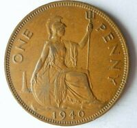 1940 GREAT BRITAIN PENNY   RARE DATE COIN   BIG VALUE   LOT