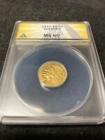1910 $2.50 GOLD INDIAN HEAD QUARTER EAGLE COIN   ANACS MS60